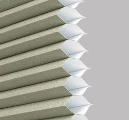 """Graber Crystal Pleat Cellular Shades 3/4"""" Single Cell Cordle"""