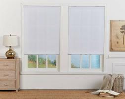 CUT TO WIDTH White Cordless Light Filtering Cellular Shade.