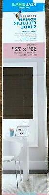 "39 x 72"" Chocolate Roman Cellular Window Shade Cordless Real"