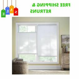 White Cordless Light Filtering Cellular Shade With Top-Down